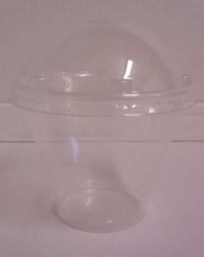 500 x 280ml Cups with Dome Lids