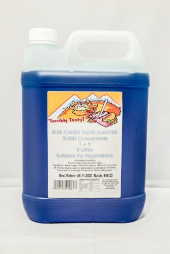 Blue Candy Floss Slush Syrup (5 Litre)